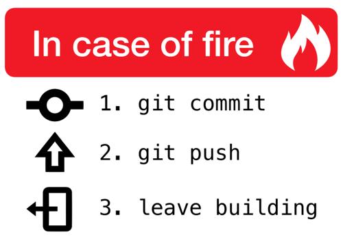 """Cartel de """"En caso de incendio"""""""