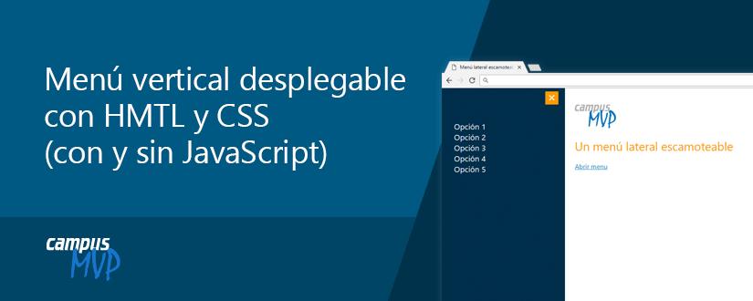 Menu vertical desplecagble con HTML5 y CSS3 (con y sin JavaScript)