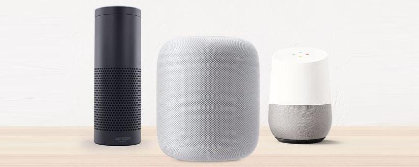 Alexa, Homepod y Google Home