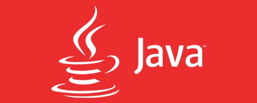 Imagen ornamental con el logo de Java sobre fondo rojo