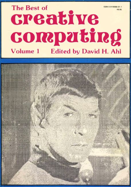 "Imagen de la primera portada ""Best of Creative Computing Volume1"" de Creative Computing Press, año 1976"