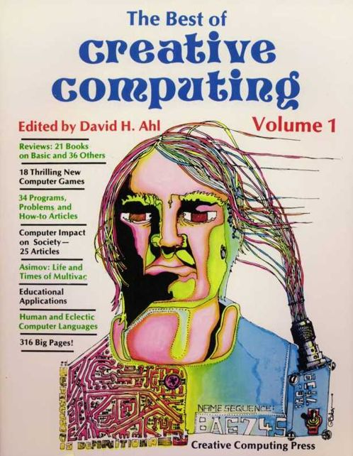 "Imagen de la segunda portada ""Best of Creative Computing Volume1"" de Creative Computing Press, año 1976"