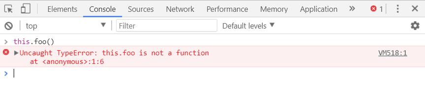 Consola de Chrome mostrando este error