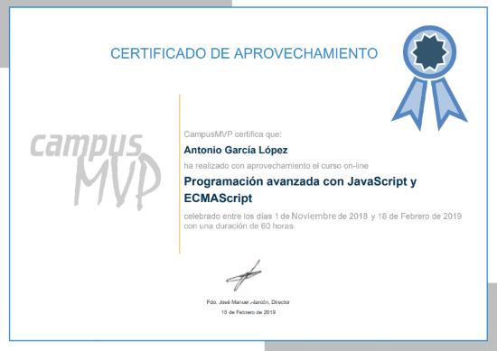 Diploma de ejemplo de campusMVP