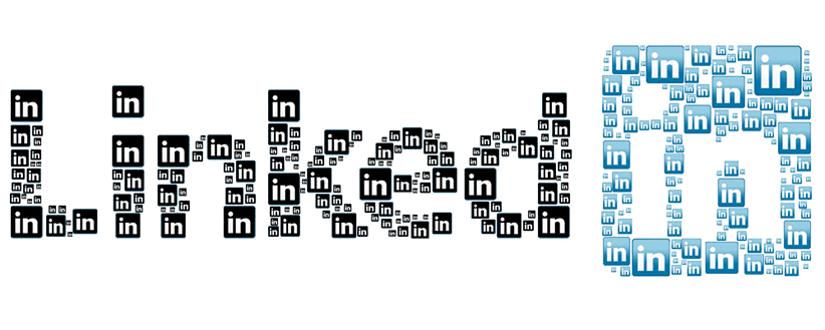 Imagen ornamental con el logo de LinkedIn