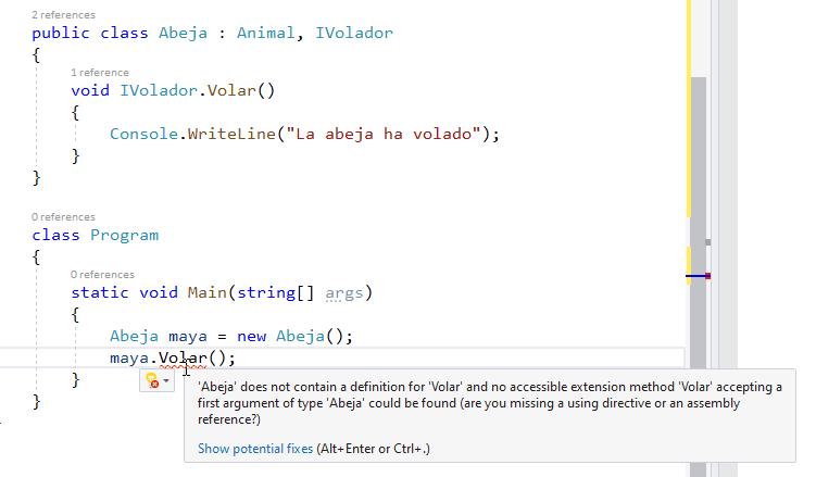 Error de método no encontrado por parte del compilador