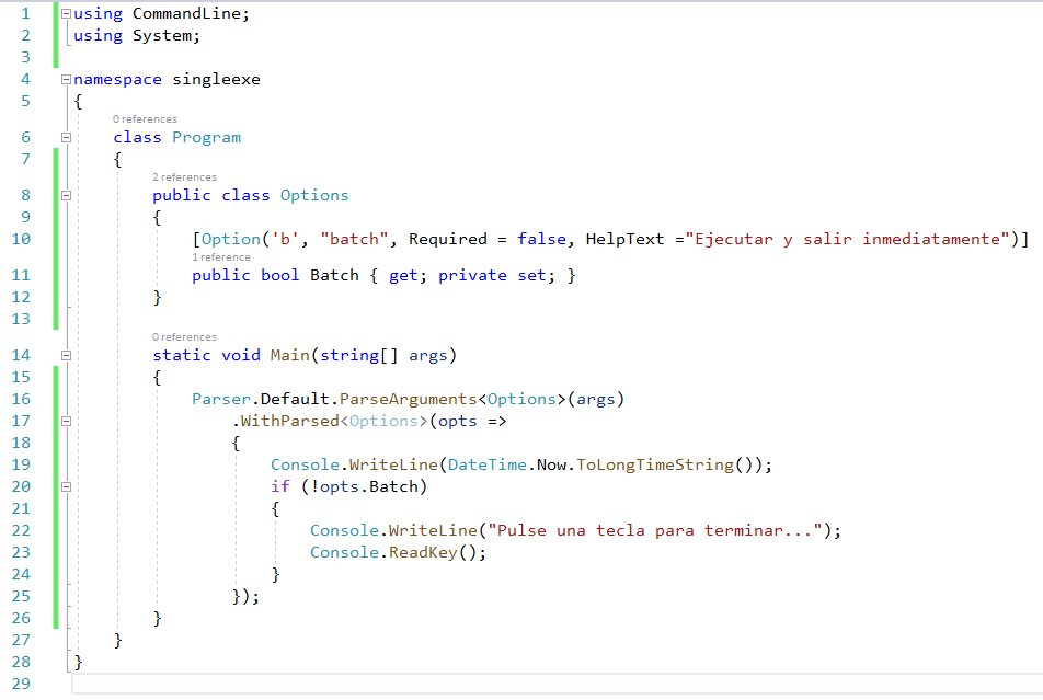 El código fuente de nuestra mini-app
