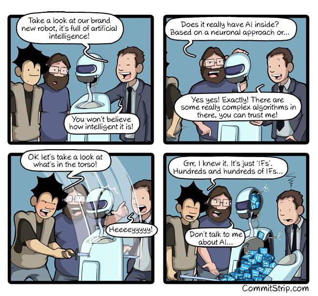 La tira cómica sobre AI e Ifs de CommitStrip