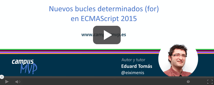 ECMAScript: Los bucles for-in y for-of