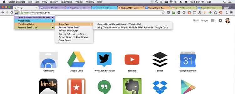 Ghost Browser: múltiples sesiones con un solo navegador