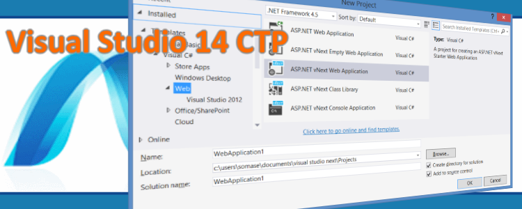 Visual Studio 14 Community Technology Preview lista para descargar
